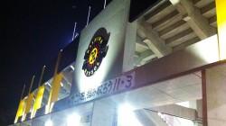 スタジアムに掲げられたチームエンブレム(2012年)