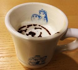 コーヒーを飲み進むと『きれいなジャイアン』が登場