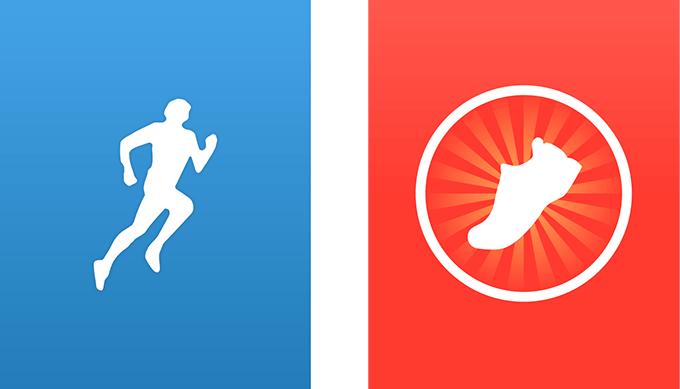 青がRunKeeper、赤がRunmeter。